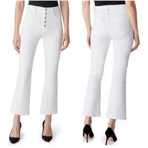 J Brand Lillie High-Rise Cropped Flare In Blanc